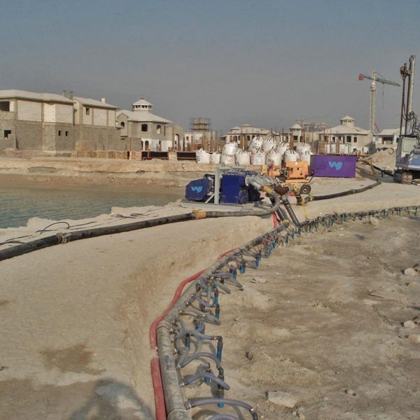 Wellpoint dewatering at Palm Jumeirah by WJ Groundwater
