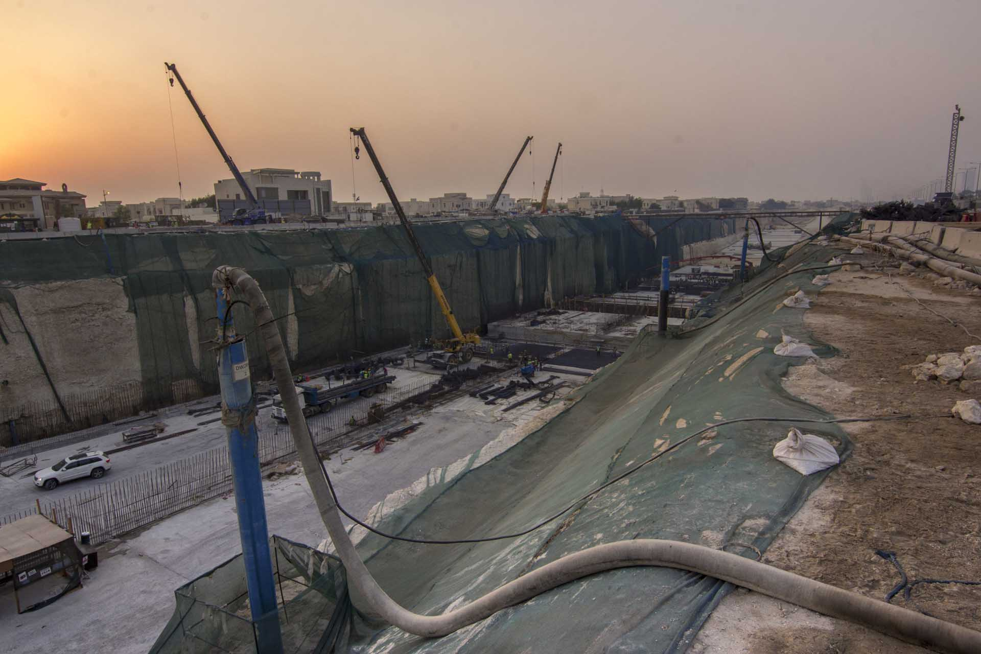 Lusail Expressway Deepwell Dewatering by WJ Groundwater