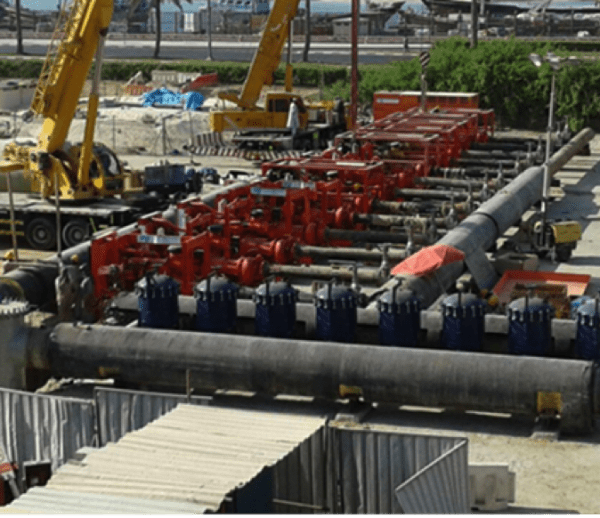 Chilled Water Pipeline Flushing at Deira Waterfront, Dubai
