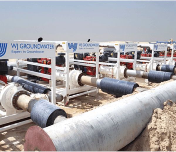 Chilled Water Pipeline Flushing at Nshama Town Square, Dubai
