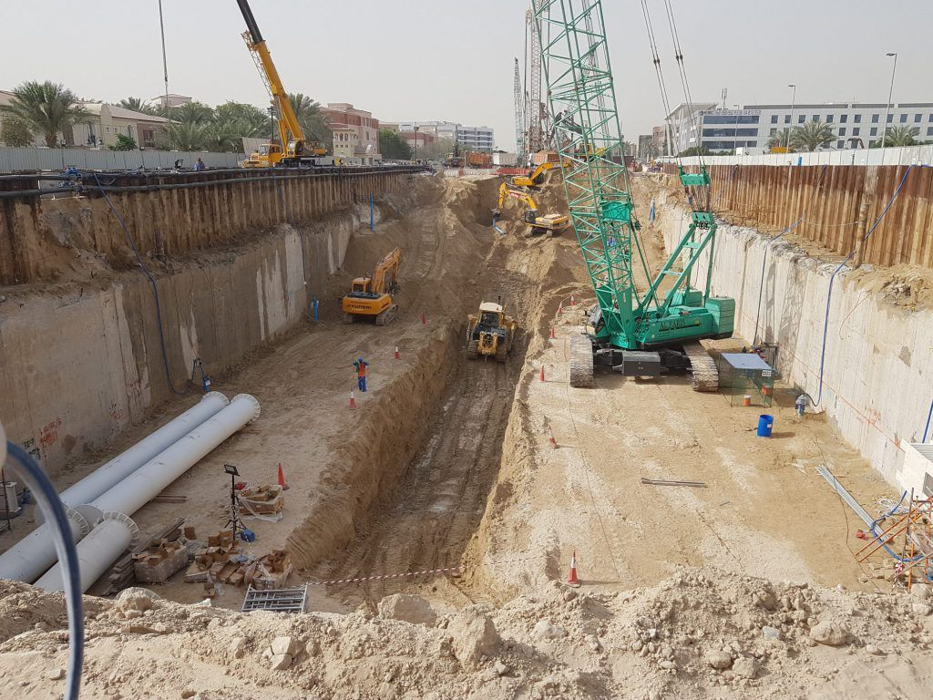 Deepwell Dewatering System installed for Underground Metro Station construction